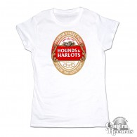 Hounds and Harlots - Premium Streetpunk - Girl Shirt white