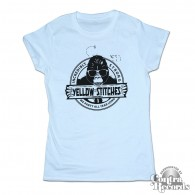 Yellow Stitches  - Girl Shirt - sky blue