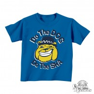 Do the Dog, Do the Ska - Kids Shirt blue