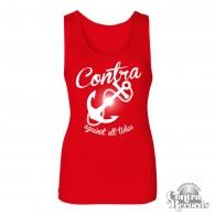 Contra Records - Anchor - Girl Tanktop - red