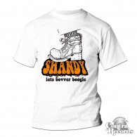 Shandy - lets bovver Boogie - T-Shirt white