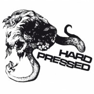 "HARD PRESSED - S/T 7""EP lim.150 white/black-splatter"