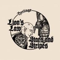"""V/A LION'S LAW/STARS & STRIPES- SPLIT 7""""EP solid black"""