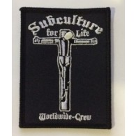 Patch - Subculture for Life - Worldwide Crew Crucified lim.100