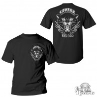 "Contra Records ""Black Panther"" T-Shirt black front/backprint"