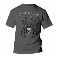"""Bomber 80 """"spider"""" T-Shirt dark grey"""