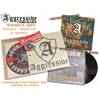 "Aggressive - ""Unbreakable"" - 12""GF-LP lim.100 Wooden-Box Set"