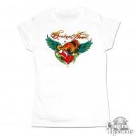 Broken Heart white - Girl Shirt