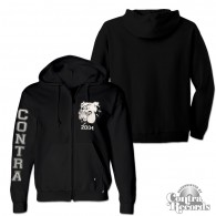 Contra - Streetwear Bulldog -  Zip Hooded Jacket black