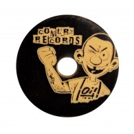 Contra Records Oi! - Single 45rpm Adapter black/gold