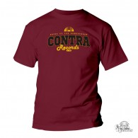 """Contra Records - """"dress up for..."""" T-Shirt oxblood red"""