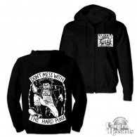 "Contra Records - ""Don't Mess With the Hard Punx"" - Zip Hooded Jacket"