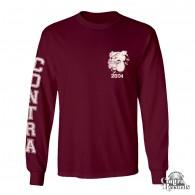 Contra - Streetwear Bulldog - Longsleeve Shirt (Oxblood)