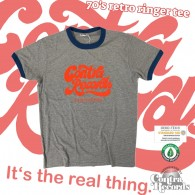 """Contra Records """"it's the real thing"""" Ringer T-Shirt grey/blue"""