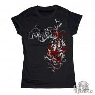 Old school anchor black - Girl Shirt-XS (Last Size!!!)
