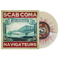 """SCAB COMA - NAVIGATEURS - 7"""" EP, lim.200 red yellow splattered"""