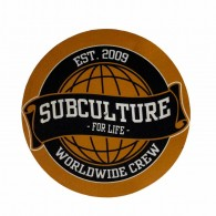 """Subculture for Life - Worldwide Crew '09 - 12"""" Slipmat"""
