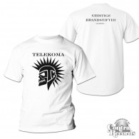Telekoma - Skull - T-Shirt white front/backprint