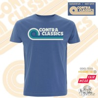 CONTRA CLASSICS - T-Shirt denim blue front/neck-print