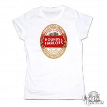 Hounds and Harlots - Premium Streetpunk - Girl Shirt white