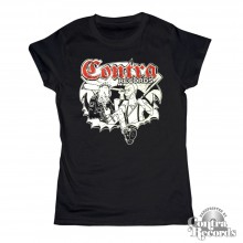Contra - Punks and Skins - Girl Shirt black