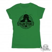 Yellow Stitches - Girl Shirt - green