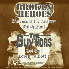 "V/A Broken Heroes/Guvnors-split-7""EP lim.134 Brown Cover"