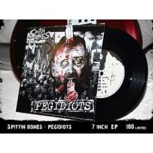 "Spittin Bones - Pegidiots 7""EP handmade Cover lim.100"