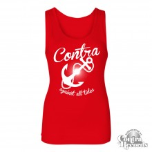 Contra Records - Anchor - Girl Tank Top - red