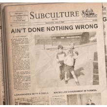 "SUBCULTURE - AIN'T DONE... lim.100 black 7"" EP"