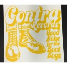 "Screenprinted Poster - ""Contra Records"" - Yellow"