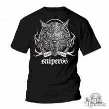 Sniper 66 - Caput Lupinum Wolf - T-Shirt Black (girl/men leftove