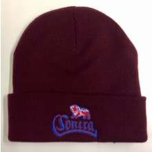 Contra Records - Bulldog - Beanie  (Oxblood)