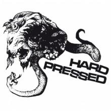 """HARD PRESSED - S/T 7""""EP lim.150 white/black-splatter"""