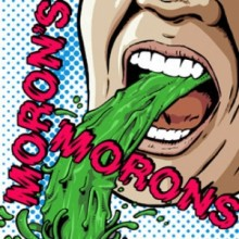 """Moron's Morons - s/t 7"""" EP lim.60 sleeve printed on translucent"""