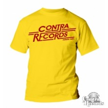 Contra Records - Rebels rule -T-Shirt Men Yellow limited edt.