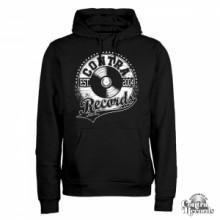 Contra Records - athletic Vinyl Logo Hoody Black