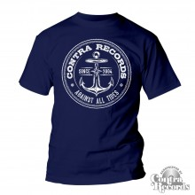 "Contra Records ""Anchor new"" T-Shirt navy blue"
