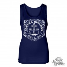 "Contra Records ""Anchor new"" Girl Tanktop navy blue"