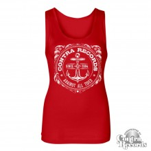 "Contra Records ""Anchor new"" Girl Tanktop red"