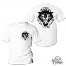 "Contra Records ""Black Panther"" T-Shirt white front/backprint"