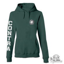 Contra Records  - Streetwear Bulldog - Girl Hoody dark green