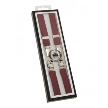 Braces / Hosenträger - half inch burgundy red