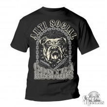 Contra Records - Antisocial Bulldog T-Shirt black