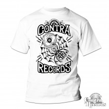 Contra Records - spiderweb T-Shirt white
