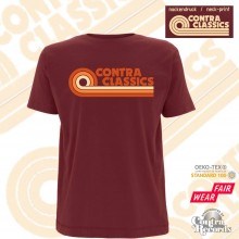 CONTRA CLASSICS - T-Shirt burgundy red front/neck-print