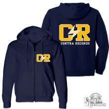 "Contra Records ""C/R"" - Zip Hooded Jacket dark navy blue"