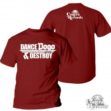 "Contra Records ""Dance Pogo & Destroy"" T-Shirt oxblood"