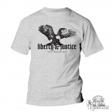 "Liberty & Justice - ""Eagle"" T-Shirt grey (PRE ORDER)"