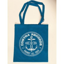 "Cotton Bag ""new anchor"" blue"